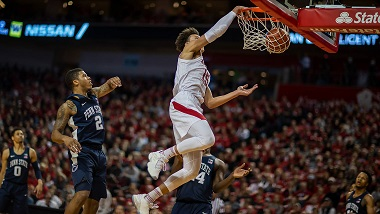 Roby's Double-Double Sparks Huskers to Win over Penn State