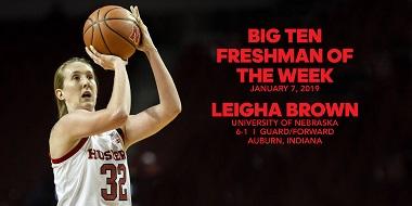NU's Brown Claims Big Ten Freshman Honor