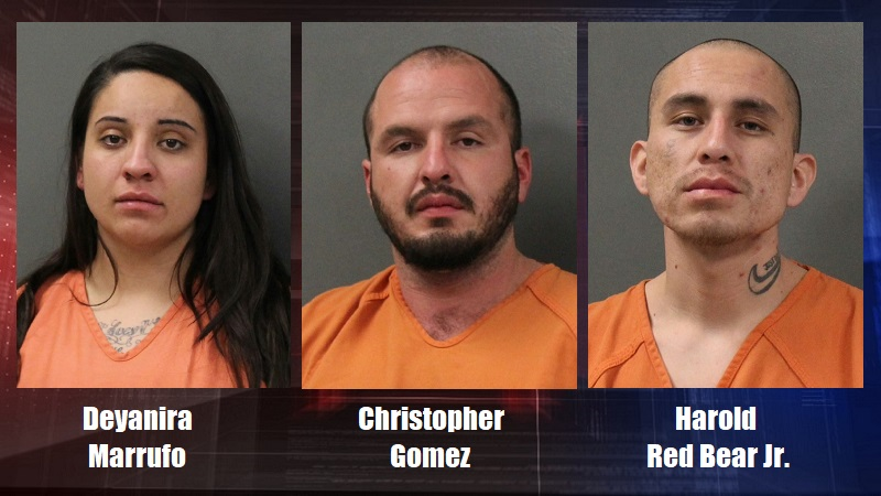 Three facing drug charges following Scottsbluff traffic stop Sunday