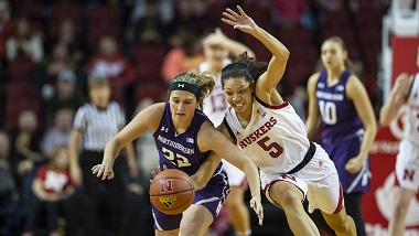 Nebraska Women edged at home by Northwestern