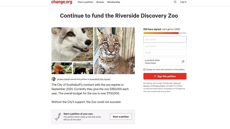 Online petition, fundraising pages created to show support for Scottsbluff zoo