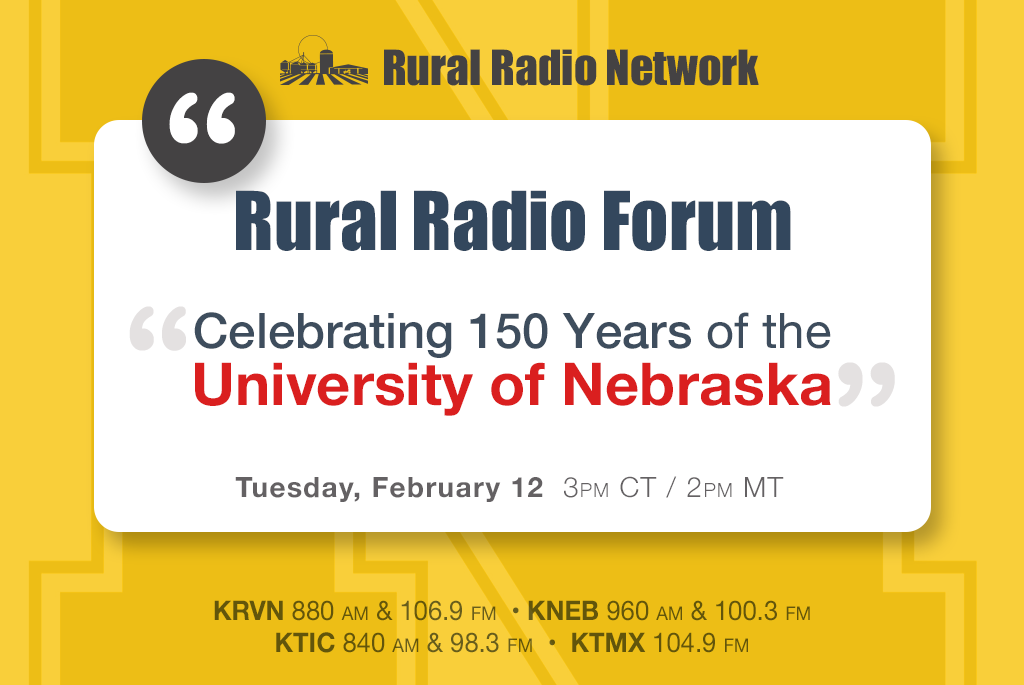 """Rural Radio Forum:  Celebrating 150 Years of the University of Nebraska"""