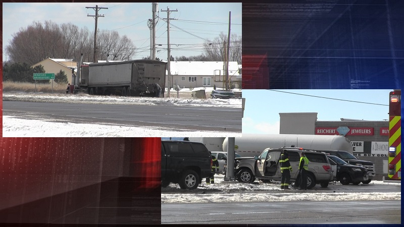 Drivers walk away from semi vs SUV accident in Scottsbluff