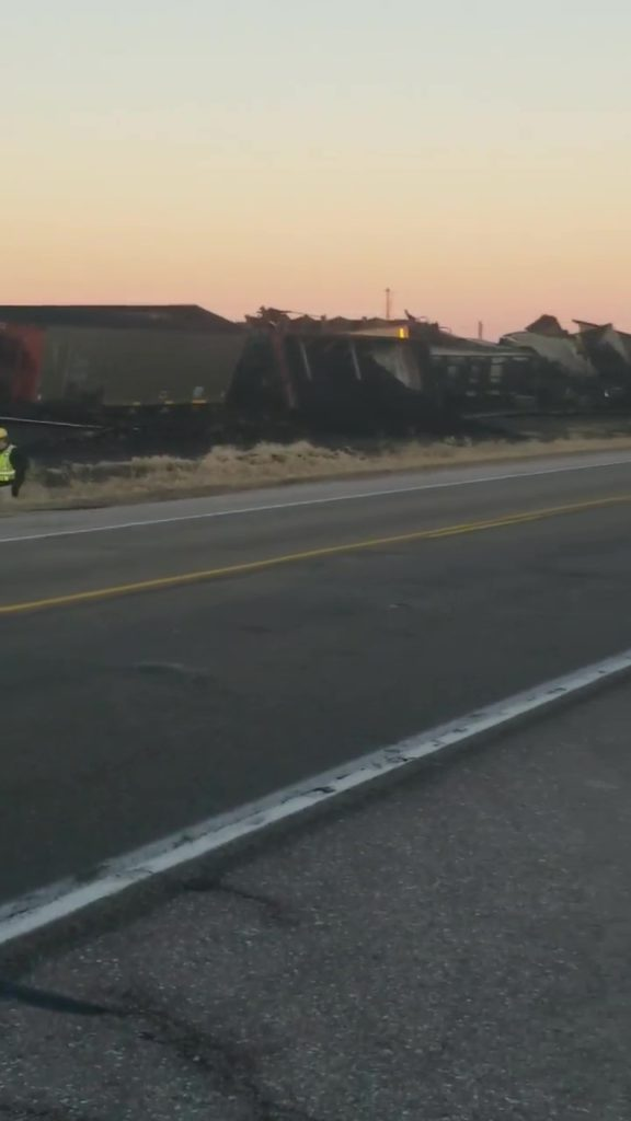 (Audio)  Coal Spilled In Train Derailment Near Valley