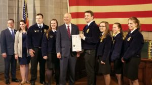 "(Video) Gov. Ricketts Proclaims ""FFA Week"" in Nebraska"