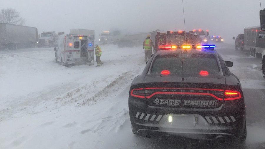 Series of crashes forces closure of I-80 in eastern Nebraska