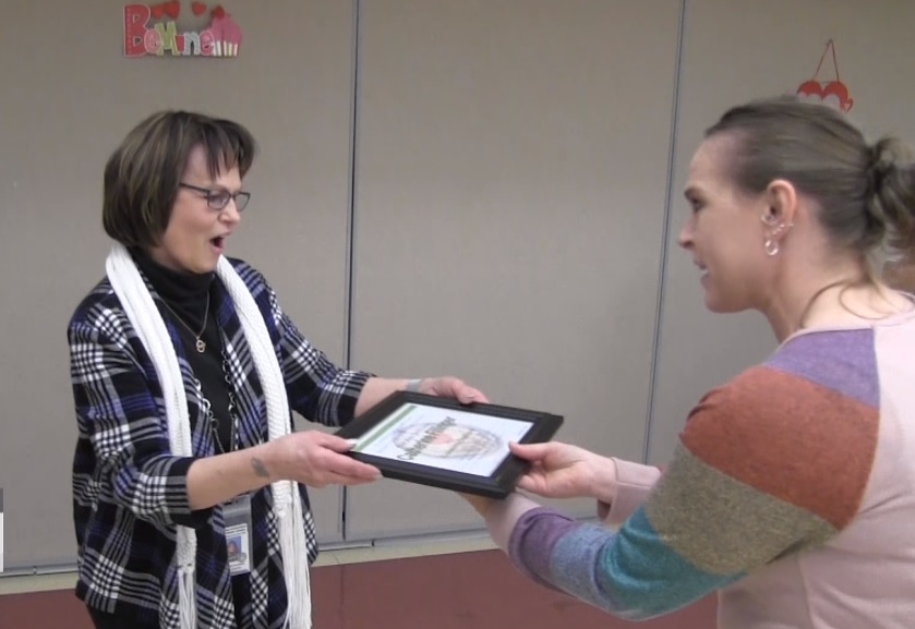 Cathy Fillinger named First State Bank's Community Champion for February