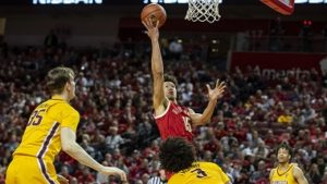 Husker Men pull away late for home win over Northwestern