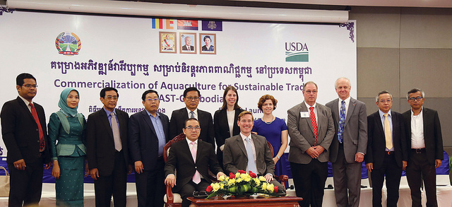 Kansas State University collaborates with the ASA to launch aqua-feed program in Cambodia