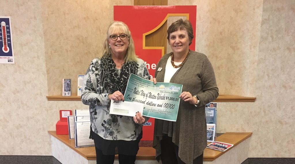 Donation helps bring United Way closer to fundraising goal