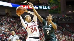 Husker Women defeat Sparty at home
