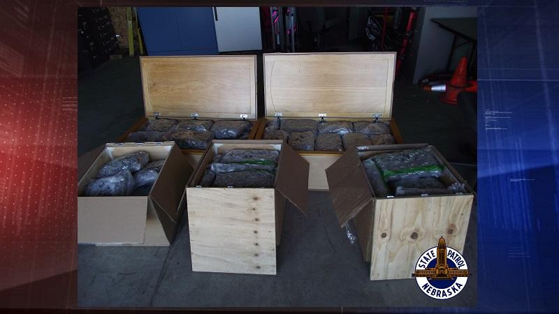 NSP nets another large shipment of marijuana on I-80
