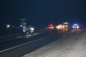 LifeNet Helicopter Responds To Accident Near Pilger