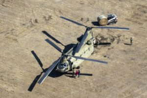 (Video) Nebraska National Guard airdrops hay to cattle
