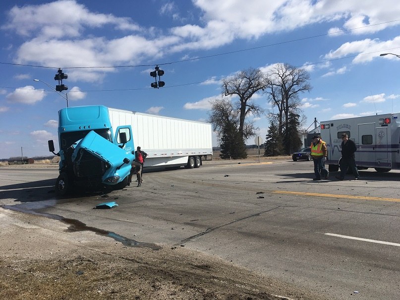 Two Semis Crash On Highway 275 Near Pilger