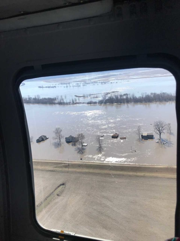 Governor Kelly tours flood affected areas with the Kansas National Guard, the Kansas Department of Emergency Management and the Kansas Water Office