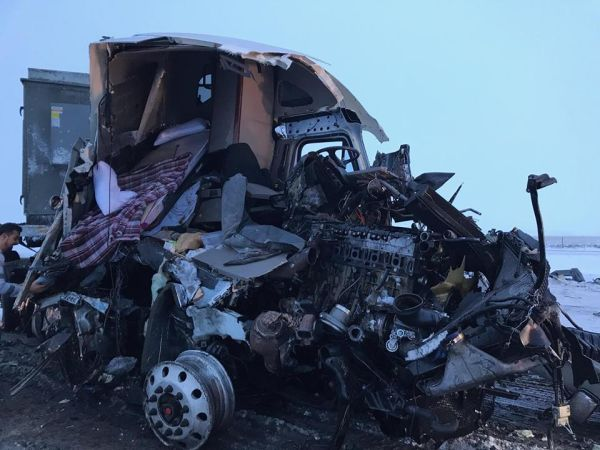 I-80 reopened after four-semi crash