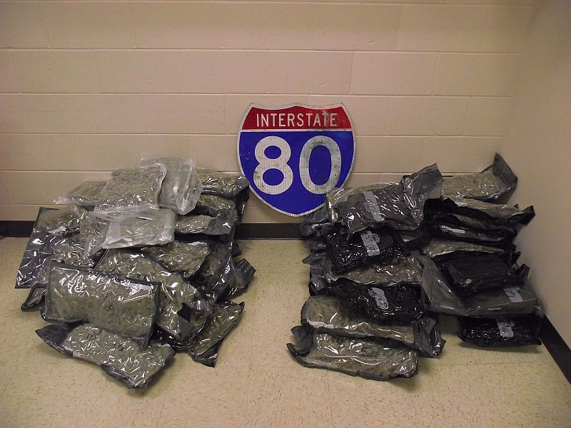 More than 100 pounds of Marijuana taken off Interstate in two stops