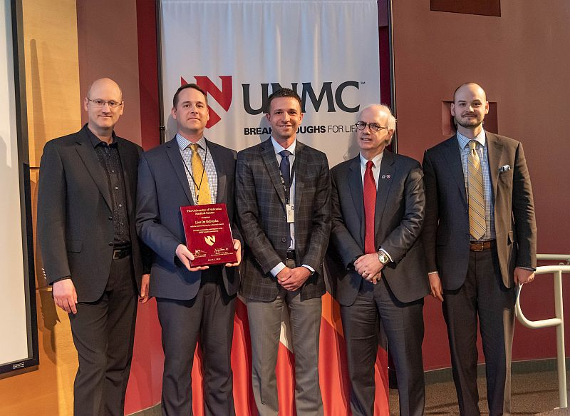 Live On Nebraska receives UNMC's Community Service to Research Award