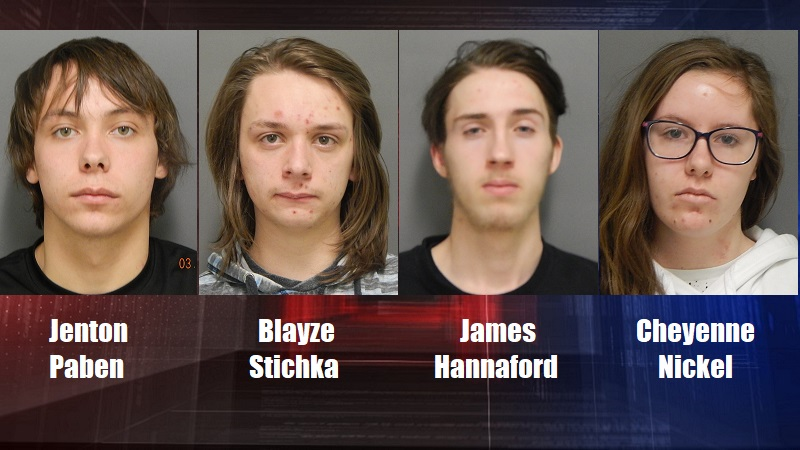 Four arrested in Cheyenne County for theft from vehicles, church burglary