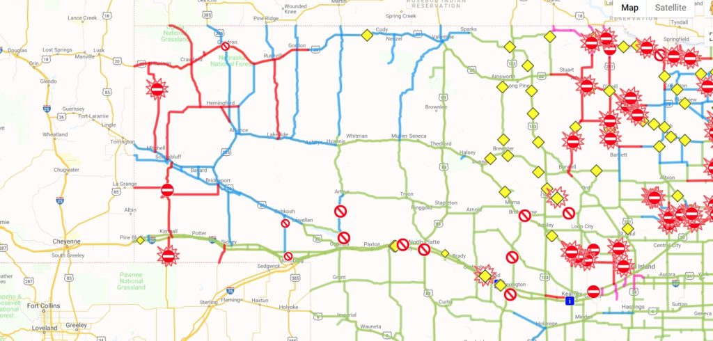 More Panhandle highways re-open, six still closed as of 7 a.m. Friday