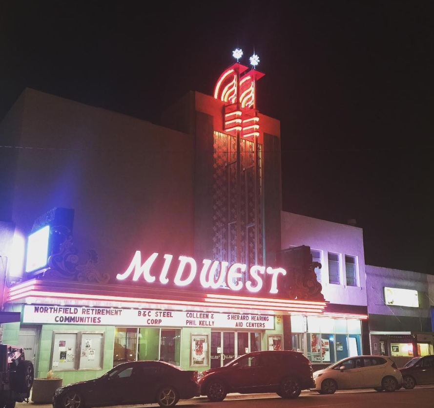 Small fire at Midwest Theater affecting operations until marquee fixed