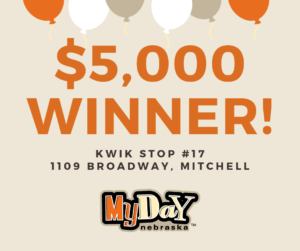 $5,000 My Day lotto ticket sold in Mitchell