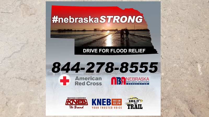 """Nebraska Broadcasters, Red Cross, KNEB promoting statewide """"#NebraskaStrong Drive for Flood Relief"""""""