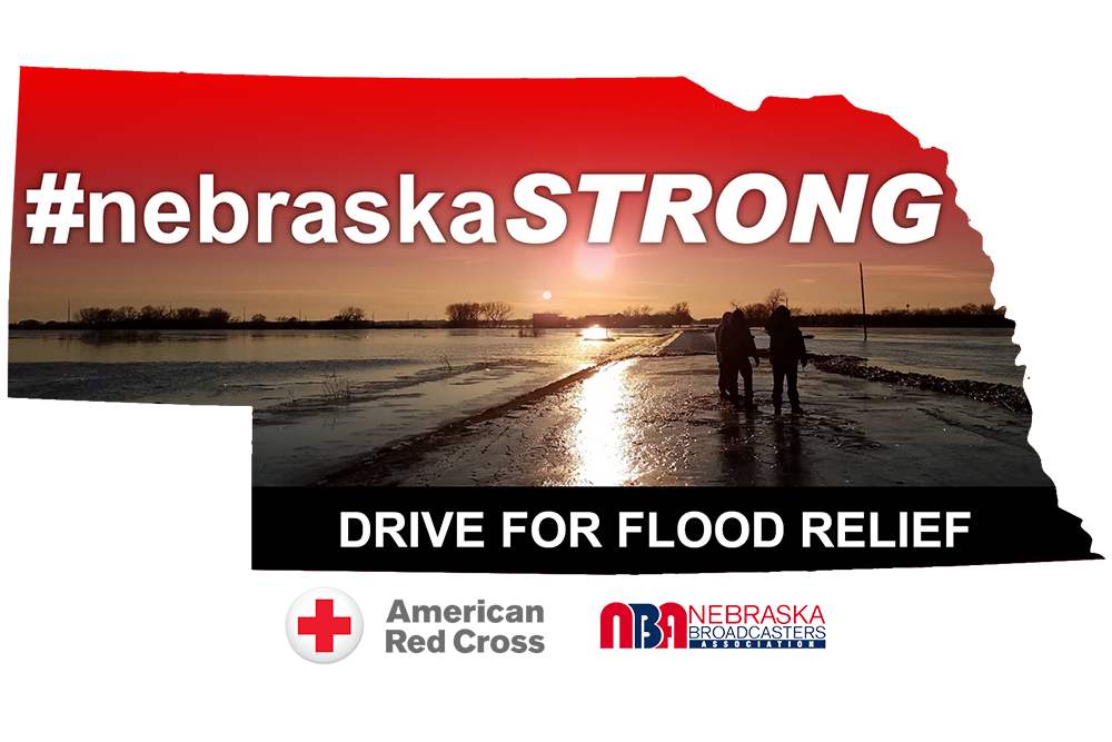 "Nebraska Broadcasters Association hosting one-day statewide giving event called ""#NebraskaStrong Drive for Flood Relief"""