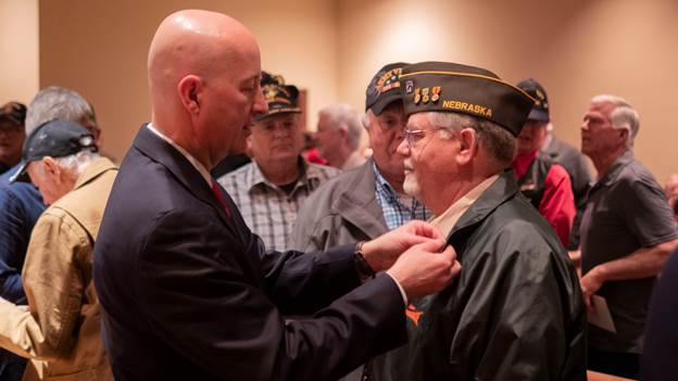 Gov. Ricketts Honors Veterans on National Vietnam War Veterans Day