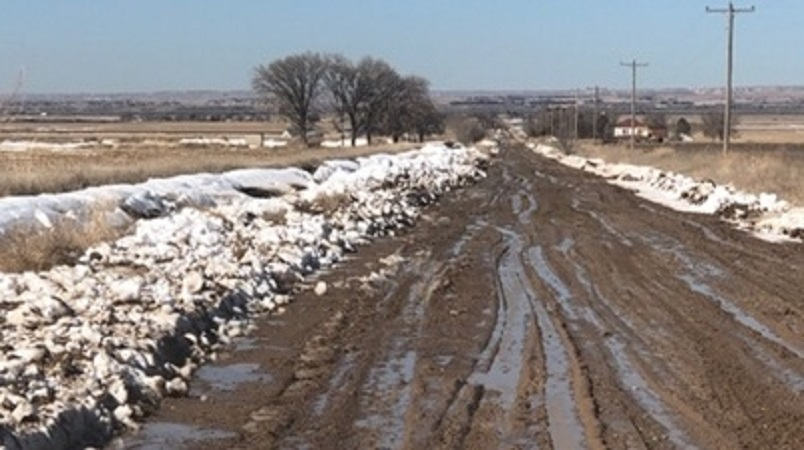 Time, dry conditions needed so crews can fix muddy, rutted rural roads