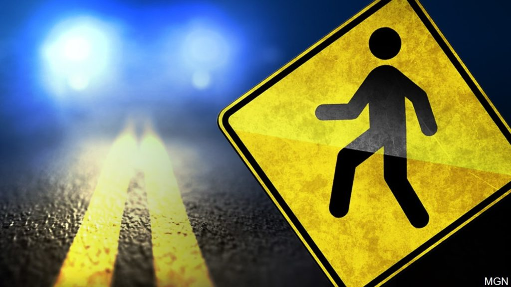 Gering woman injured in early morning pickup v. pedestrian accident
