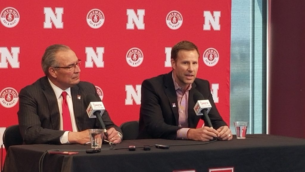 (VIDEO) Moos Introduces Hoiberg as Head Coach of Nebraska Men's Basketball