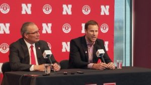 (VIDEO) Moos Introduces Hoiberg as Head Coach of Nebraska Men's Basketball
