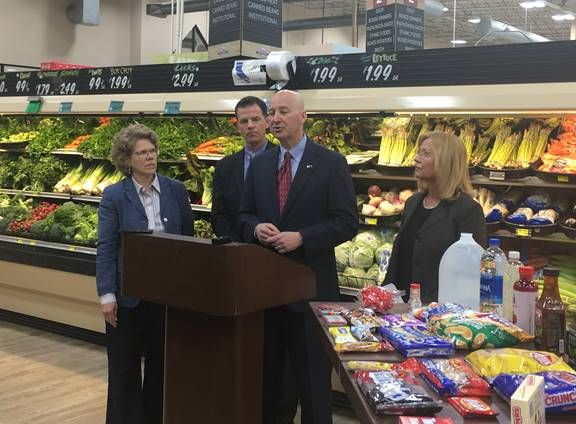 "Gov. Ricketts Decries Proposed Food, Bottled Water Taxes as ""Reverse Robin Hood"""