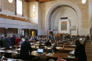 Neb. Legislature advances scaled-back bill aimed at wind energy