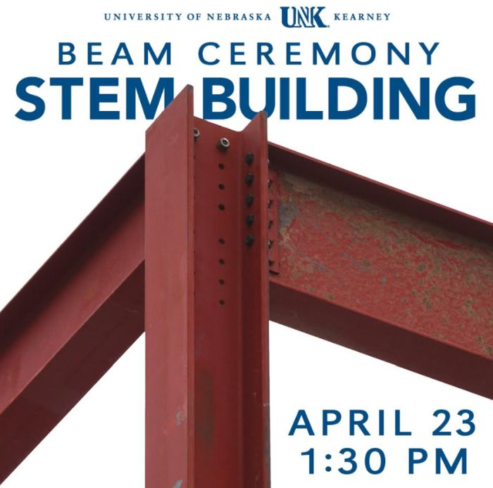Final beam placed at STEM construction April 23