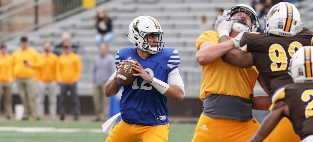 Wyoming's Annual Brown and Gold Game Won by Gold Team, 14-9