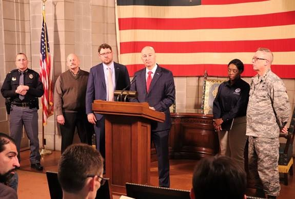 (Audio)  Gov. Ricketts, State and Federal Officials Provide Updates on Flood Relief and New Severe Weather