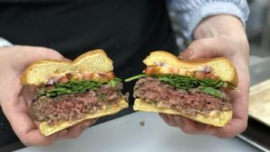 What makes the Impossible Burger look and taste like real beef?