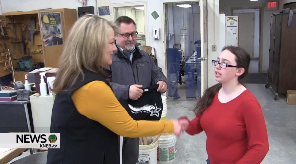 Morrill 7th Grader Kaitlynn Deines named PVC Star Student of the Week