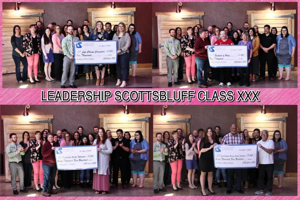 Leadership Scottsbluff Class XXX Donates to Local Non-Profits