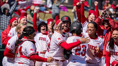 Husker Softball walks off against Illinois