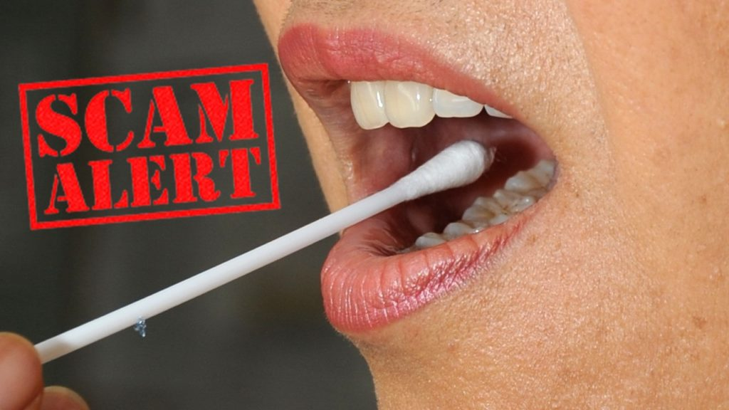 Department warns of potential scam on DNA cheek swabs