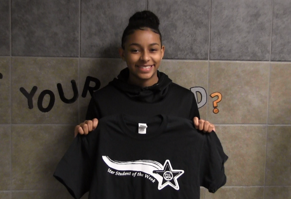 BMS 8th Grader Tierra West named PVC Star Student of the Week