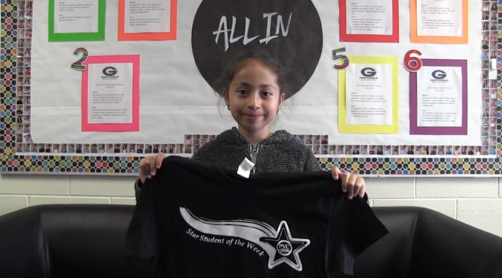 Northfield 3rd Grader Yesenia Mercado Paramo named PVC Star Student of the Week