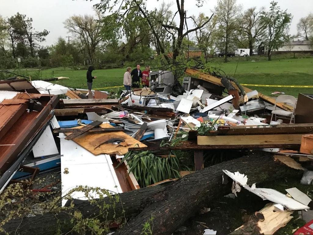 Possible tornado flattens food stand in Lincoln