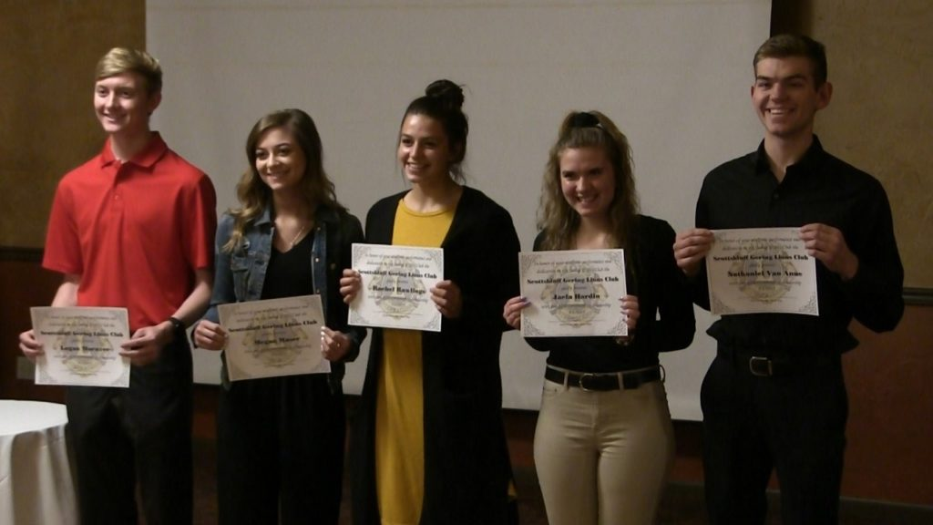 Five 'Leos' honored with Lions Club Scholarships