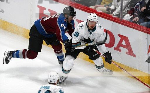 Sharks take 2-1 series lead on Avs