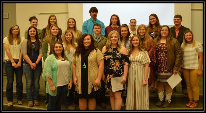 PTK honor society inducts 20 NCTA Aggies